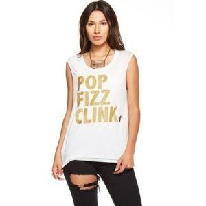 CHASER Pop Fizz Clink Glitter Tank